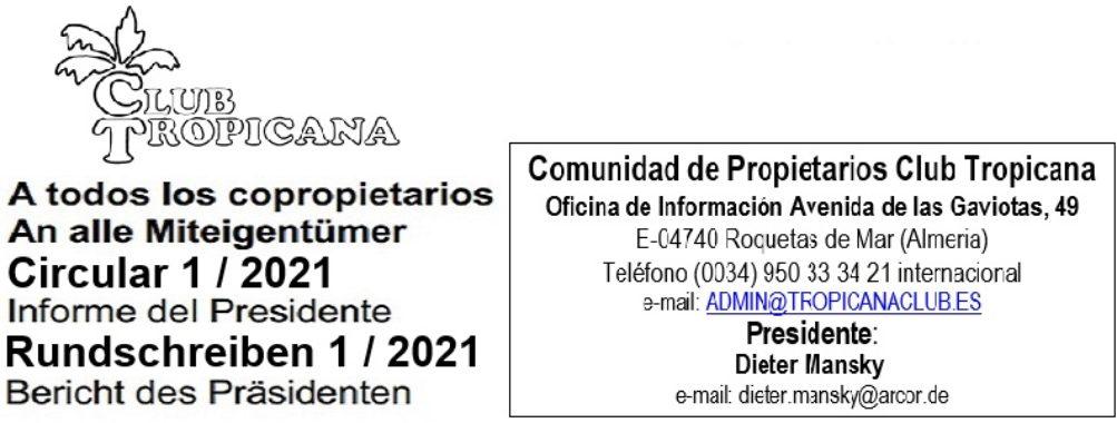 Circular 1/2021 / Rundschreiben 1/2021 / Report 1/2021